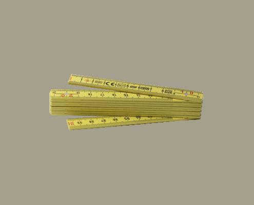 LongLife Zollstock 1m (Taschenmeter) gelb