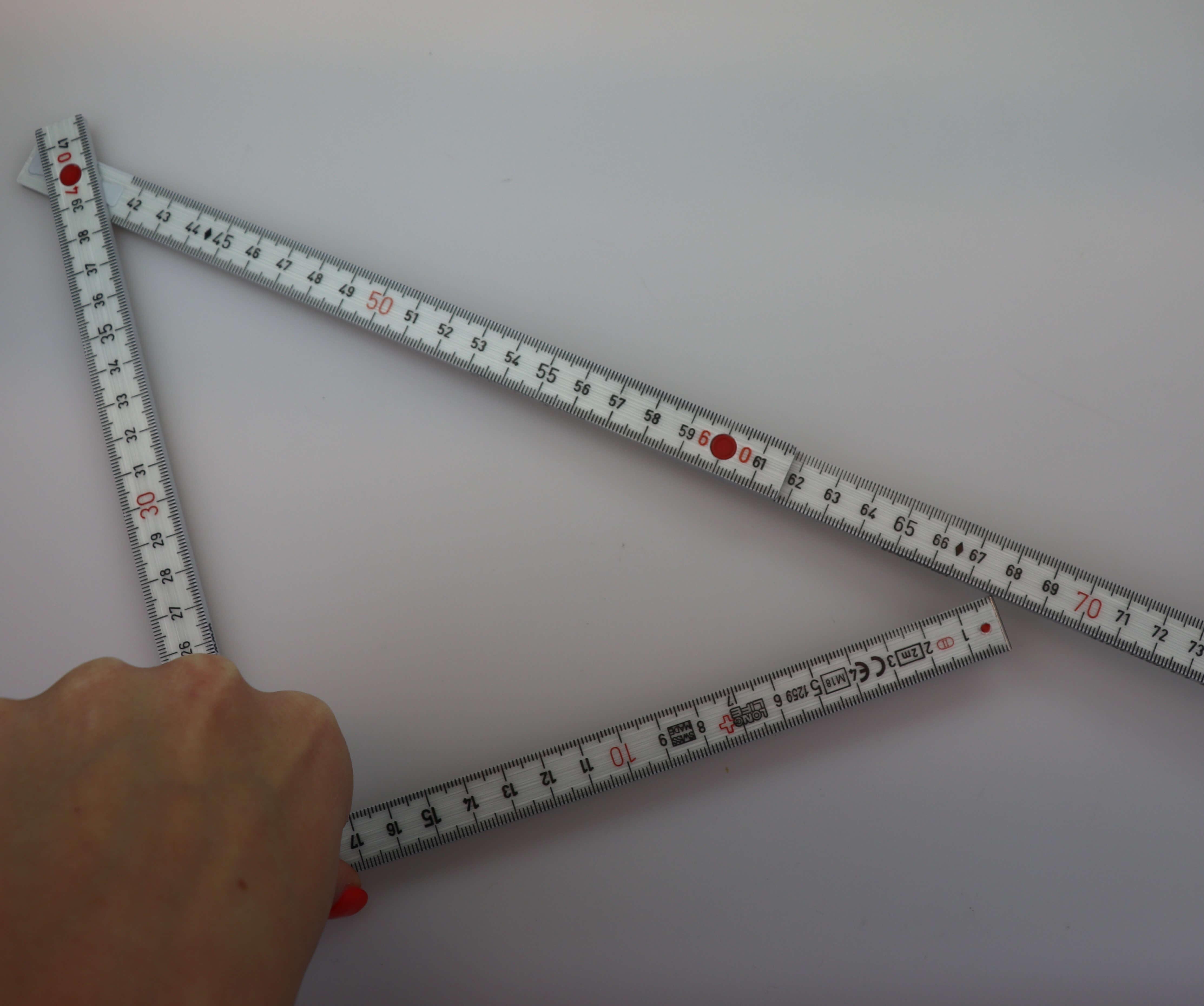 Winkel messen mit zollstock
