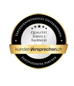Gütesiegel Kundenversprechen (Qualität, Service, Fairness)